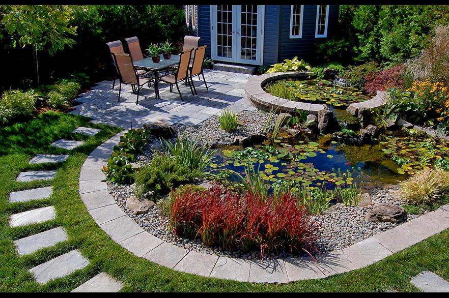 architecte paysagiste laval bassins terre en fleur. Black Bedroom Furniture Sets. Home Design Ideas